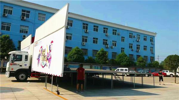 超大型140平米舞台车在程力诞生