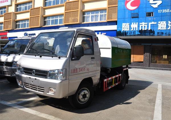 国五凯马车厢可卸式垃圾车多方位图片一