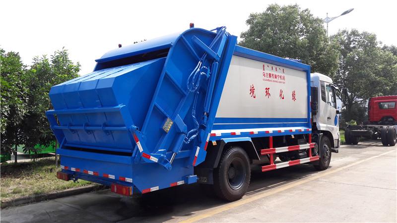国五东风天锦压缩式垃圾车多方位图片五