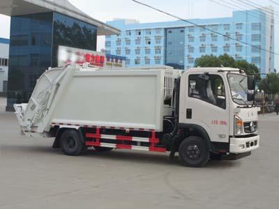 国五东风7方压缩式垃圾车多方位图片一
