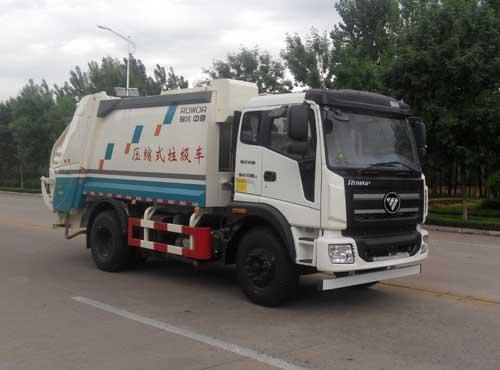 国五福田瑞沃压缩式垃圾车(天燃气)多方位图片一