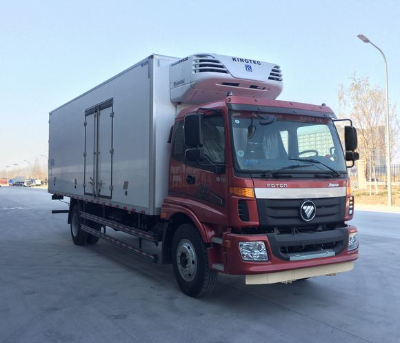 国五福田欧马可厢长7.55米冷藏车
