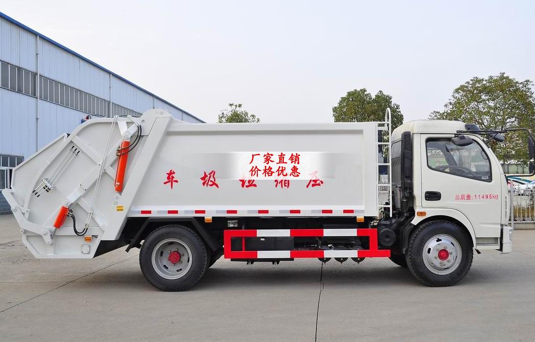 东风凯普特压缩式垃圾车多方位图片三