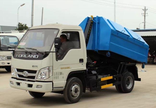 国五福田时代车厢可卸式垃圾车多方位图片一