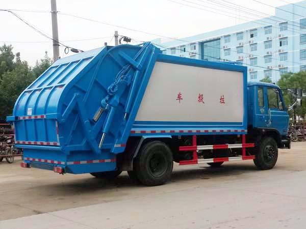 东风10方压缩式垃圾车多方位图片二