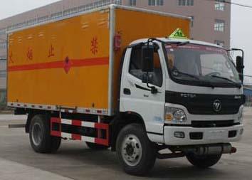 国五福田欧马可易燃气体厢式运输车多方位图片二