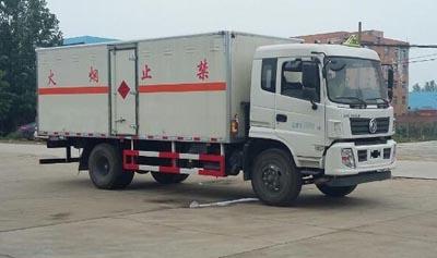 国五东风易燃气体厢式运输车多方位图片一