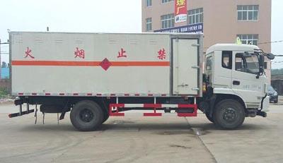 国五东风易燃气体厢式运输车多方位图片三