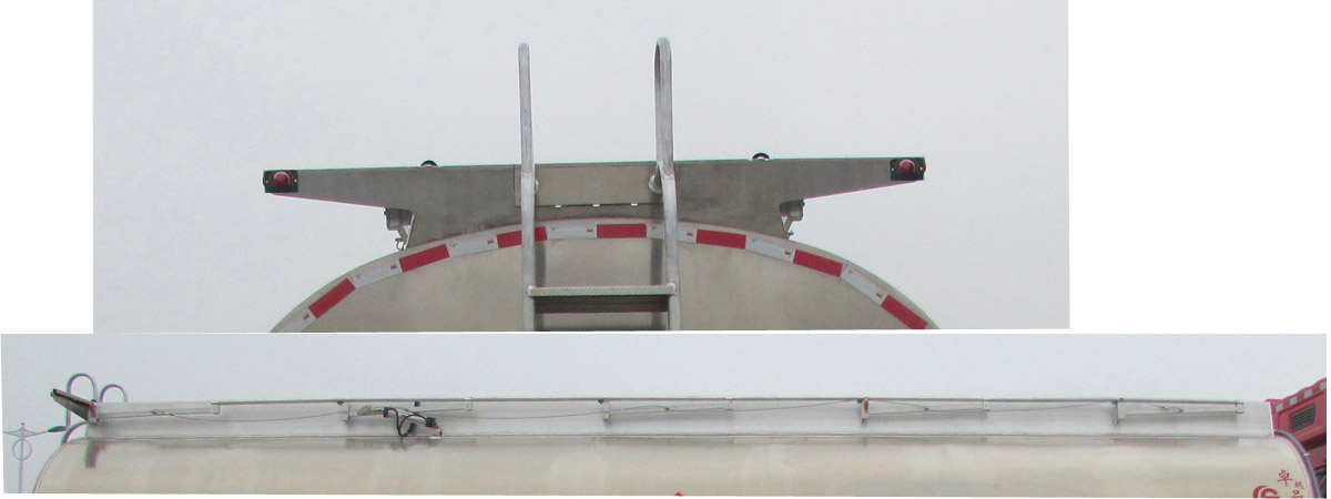 陕汽前四后四铝合金运油车23.4立方多方位图片二