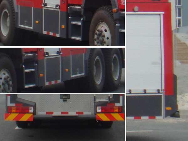 斯太尔后双桥水罐消防车多方位图片三