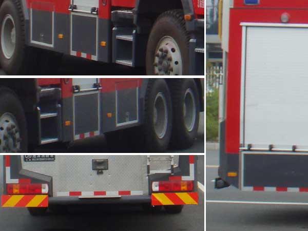 斯太尔后双桥泡沫消防车多方位图片三