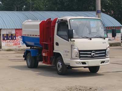 国五凯马5方自装卸式垃圾车多方位图片一