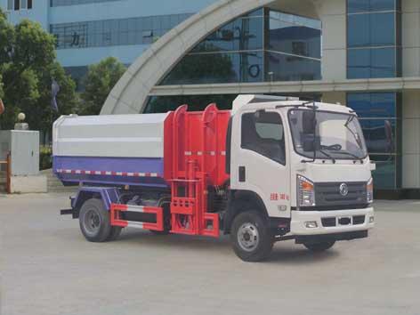 国五东风自装卸式垃圾车多方位图片一