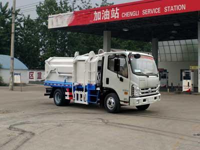 国五福田康瑞压缩式对接垃圾车多方位图片一