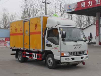 国五江淮厢长4.12米爆破器材运输车