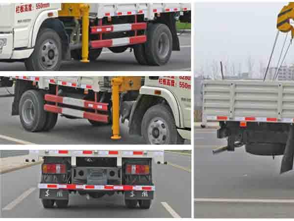 跃进随车起重运输车多方位图片五