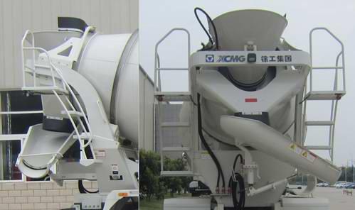 重汽后双桥混凝土搅拌运输车多方位图片二