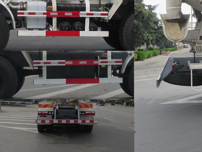 江淮后八轮混凝土搅拌运输车多方位图片五