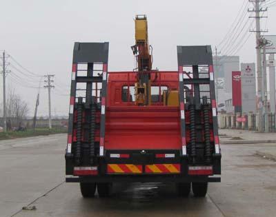 东风国五平板带随车吊多方位图片四