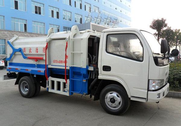东风5方侧装挂桶式垃圾车(国五)多方位图片二