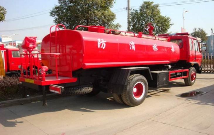 东风平头消防洒水车8吨多方位图片四