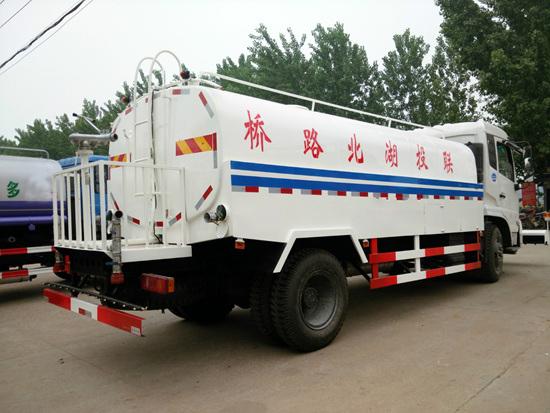 东风天锦8方型清洗车多方位图片三