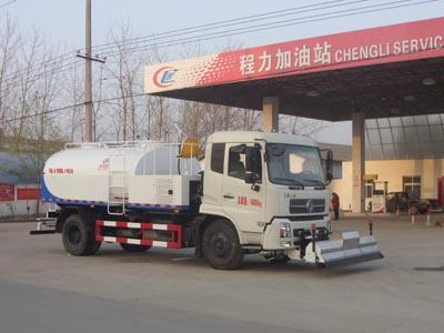 东风天锦8方型清洗车多方位图片一